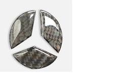Carbon Fibre 49mm Car Steering Wheel Emblem Badge Logo Sticker Mercedes CLA GLA