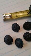 Pre WWI military uniform small buttons eagle facing left RF MFG Co. Newark NJ