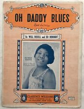 1923 BLACK BLUES SINGER sheet music w/photo BESSIE SMITH Oh DADDY BLUES
