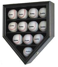 Baseball  Display Case  Holder Shadow Box Wall Cabinet, B12-BL