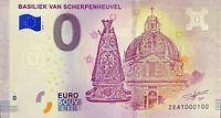 BILLET 0  EURO  BASILIEK VAN SCHERPENHEUVEL  BELGIQUE  2018  NUMERO 100