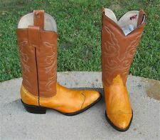 NEW  COWBOY OSTRICH WING TIP  WESTERN   BOOTS  MEN'S 7`5M