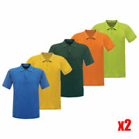 2 x Regatta Coolweave Mens Summer Quick Drying Wicking Polo Shirt. RRP £20 each