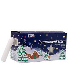 Pyramidenkerzen 50/500 weiß für kleine Pyramiden, 50 Stück
