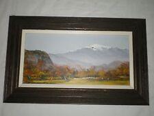 C SELMI 87 Charles Chuck Oil on Board Landscape Mountain Tree New England Artist