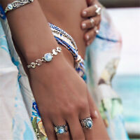 Lady Eclipse New Moon Full Moon Bracelet Chain Moon Boho Fashion Jewelry Gift