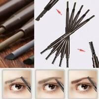Waterproof Eye Brow Eyeliner Eyebrow Pen Pencil With Brush Cosmetic Tool Makeup
