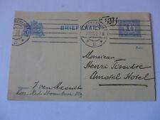ENTIER  POSTAL 1910   AMSTERDAM NEDERLAND  carte postale