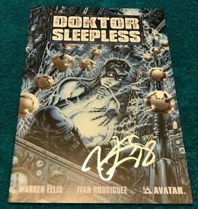 DOKTOR SLEEPLESS #1 PLATINUM FOIL Signed Warren Ellis COA POSTER Avatar CGC it