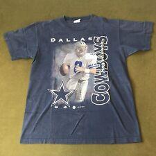 Vintage 1997 Dallas Cowboys Troy Aikman T-Shirt Men's L NFL Football QB 90's