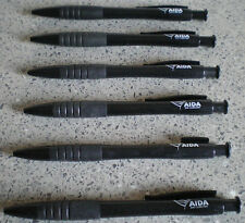 6 AIDA KUGELSCHREIBER- der normale in schwarzer Farbe-schreiben blau und schwarz