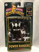 Mighty Morphin Power Rangers Retro ZACK Black Ranger Flip Head Hasbro 2021