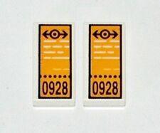 LEGO Train Tickets x2 Printed 1x2 Tiles Railway Minifigure Passenger Accessory