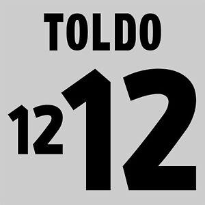 Toldo 12. Italy Goalkeeper football shirt 2000 FLEX NAMESET NAME SET PRINT