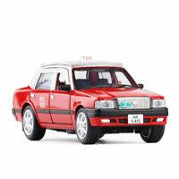 1:32 Hong Kong Taxi Toyota Crown Die Cast Modellauto Spielzeug Sammlung Rot