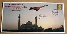 Cocncorde service 1ST londres-bahreïn 2005 couverture signée par christopher orlebar