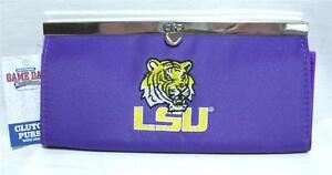 Louisiana State LSU Tigers Ladies Clutch Purse Chain Fashion Wallet Handbag B-15