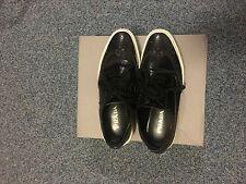 Black Prada lace-up Size 4 90% new
