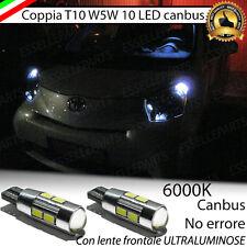 COPPIA LUCI DI POSIZIONE 10 LED TOYOTA IQ T10 W5W CANBUS 100% NO ERROR