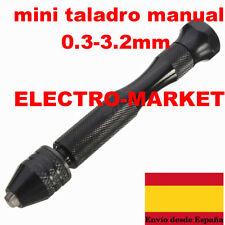 Mini Taladro de Mano de aluminio para Portabrocas 0.3-3.2mm- BROCAS NO INCLUIDAS