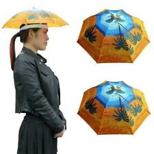 Sun Umbrella Hat Outdoor Hot Foldable Golf Fishing Head Cap Headwear D5Y7