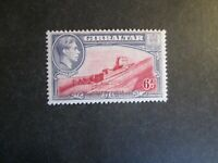 Gibraltar 1938 6d  Mounted Mint Perf. 13 1/2.