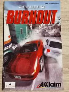 Burnout Nintendo Gamecube Game Cube Manual