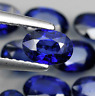 Natural Blue Sapphire Diffusion AAA Oval Faceted Loose Stones (4x3mm-8x6mm)