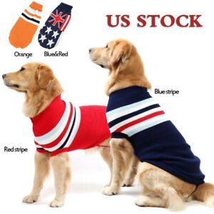 4 Colors Warm Dog Sweater XXS-3XL Big Dog Sweater Pet Small Dogs Puppy Clothes