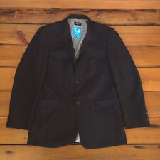 "Marc Ecko Black Polyester Rayon Blend Suit Jacket Blazer S38 40"" Chest"