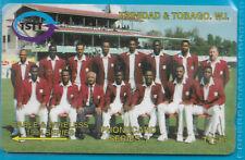 TRINIDAD & TOBAGO 1994 CRICKET PHONECARD Series 3 WEST INDIES TEAM Used