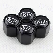 Black Auto Parts Air Wheels Tyre Tire Valve Caps For Forte Soul K2 Accessories