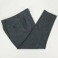 AMI Alexandre Mattiussi Anthracite Gray Carrot Fit Flat Front Wool Pants 34 Crop
