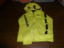 UNDER ARMOUR 7 BRIGHT YELLOW ZIP UP HOODIE