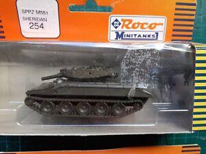 ROCO MINITANKS SPPZ M551 Sheridan, 1/87, complete, vgc, serial 254