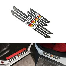 4x JDM Ralliart B Carbon Fiber Car Door Welcome Plate Sill Scuff Cover Protector