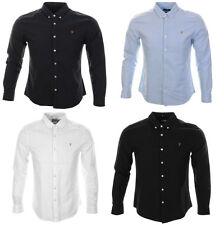 Farah Men's Slim Collared Casual Shirts & Tops