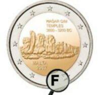"2 euros commémorative BU Malte 2017 ""Hagar Qim"" - 30 000 exemplaires - poinçon"