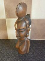 EARLY 20TH CENTURY AFRICAN HARDWOOD CARVED HEAD FIGURE