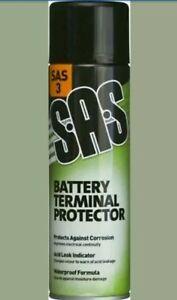 3 x Battery Terminal Protector Spray 500ml  SAS3 Anti Corrosion Spray