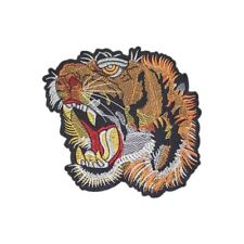 Wild Tiger M (Iron on) Embroidery Applique Patch Sew Iron Badge