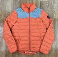 TOMMY HILFIGER Womens Puffer Jacket | Insulated Sport Coat | XL UK 14/16 Orange