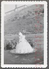 Unusual Vintage Photo Pretty Girl Doll Toy Cake in Blurry Focus 715276