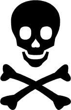 The Rebel Pirate Skull and Cross Bones Crossbones Sticker Decal Graphic V4 Black