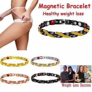 Magnetic Bracelet Heart Pattern Bangle Pain Relief Arthritis Weight Loss Carpel-