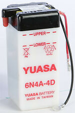 YUASA BATTERY 6N4A-4D YUMICRON PART# YUAM26A4B NEW