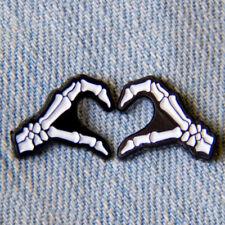 Cartoon Badges Skull Hand Heart Brooch Pins Enamel Women Backpack Decor JewP Nz
