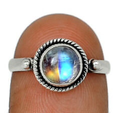 Moonstone - India 925 Sterling Silver Ring Jewelry s.6.5 AR129464 142A
