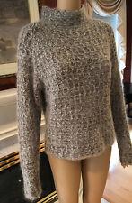 MOSSIMO  Sweater Size Medium Brown Angora Wool long sleeve mock neck