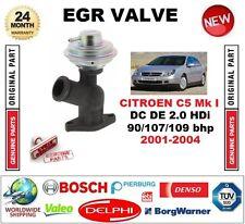 FOR CITROEN C5 Mk I DC DE 2.0 HDi 90/107/109 bhp 2001-2004 EGR VALVE Pneumatic